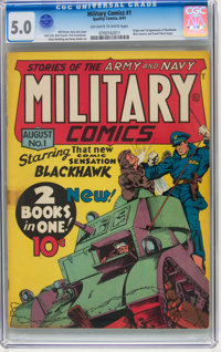 Military Comics #1 (Quality, 1941) CGC VG/FN 5.0 Off-white to white pages