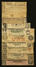 Confederate Notes:1864 Issues, T67 $20 1864 Very Fine including the following Southern Obsoletes-. ... (Total: 10 notes)