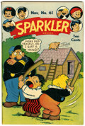 Golden Age (1938-1955):Humor, Sparkler Comics #61 Lost Valley pedigree (United Features Syndicate, 1946) Condition: VF+....