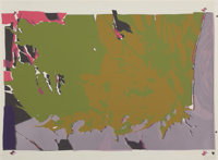 LARRY POONS (American, b. 1937) Untitled (from the portfolio Conspiracy), 1971 Color silk