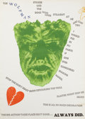 Prints, JIM DINE (American, b. 1935). Wall, 1967. Screenprint with photo-etching and embossing on paper. 40 x 22 inches (101.6 x...