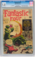 Silver Age (1956-1969):Superhero, Fantastic Four #1 (Marvel, 1961) CGC FR/GD 1.5 Cream to off-white pages....