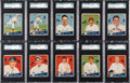 Baseball Cards:Lots, 1934 World Wide Gum SGC-Graded Collection (37) With Ten Hall ofFamers....