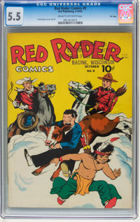Red Ryder Comics #9 File Copy (Dell, 1942) CGC FN- 5.5 Cream to off-white pages