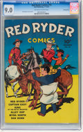 Golden Age (1938-1955):Western, Red Ryder Comics #10 Pennsylvania pedigree (Dell, 1942) CGC VF/NM 9.0 Off-white to white pages....