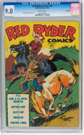 Golden Age (1938-1955):Western, Red Ryder Comics #26 Rockford pedigree (Dell, 1945) CGC VF/NM 9.0 Off-white pages....