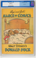 Golden Age (1938-1955):Cartoon Character, March of Comics #56 Donald Duck (K. K. Publications, Inc., 1950)CGC NM- 9.2 Off-white to white pages....