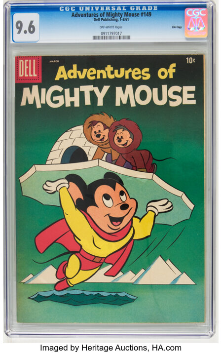 Adventures of Mighty Mouse #149 File Copy (Dell, 1961) CGC NM+ 9.6 Off-white pages....