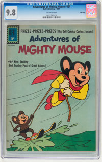 Adventures of Mighty Mouse #151 File Copy (Dell, 1961) CGC NM/MT 9.8 Off-white pages