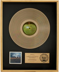 Music Memorabilia:Awards, Beatles Related - John Lennon Mind Games RIAA Gold AlbumAward....