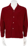 Music Memorabilia:Costumes, Buddy Holly's Red Corduroy Shirt....