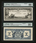 Canadian Currency: , Toronto, ON- Canadian Bank of Commerce $10 Jan. 2, 1917 Ch. 75-16-02-06P Face and Back Proofs. ... (Total: 2 notes)