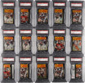Football Cards:Boxes & Cases, 1977 Topps Mexican Football PSA-Graded Packs Collection (15)....