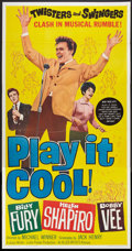 "Movie Posters:Rock and Roll, Play It Cool (Allied Artists, 1963). Three Sheet (41"" X 81""). Rockand Roll.. ..."