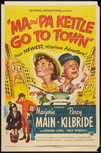 "Ma and Pa Kettle Go to Town (Universal International, 1950). One Sheet (27"" X 41""). Comedy"