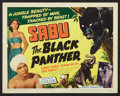 "Movie Posters:Adventure, The Black Panther (Howco, 1956). Lobby Card Set of 8 (11"" X 14"").Adventure.. ... (Total: 8 Items)"