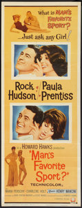 """Movie Posters:Comedy, Man's Favorite Sport? (Universal, 1964). Insert (14"""" X 36""""). Comedy.. ..."""