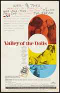 "Movie Posters:Cult Classic, Valley of the Dolls (20th Century Fox, 1967). Window Card (14"" X22""). Cult Classic.. ..."