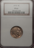 Proof Buffalo Nickels: , 1915 5C PR61 NGC. NGC Census: (2/332). PCGS Population (0/387).Mintage: 1,050. Numismedia Wsl. Price for problem free NGC/...