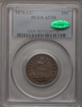 Seated Quarters: , 1878-CC 25C AU58 PCGS. CAC. PCGS Population (32/155). NGC Census:(29/156). Mintage: 996,000. Numismedia Wsl. Price for pro...