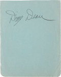 Baseball Collectibles:Others, Dizzy Dean Signed Autograph Book Page....