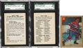 Hockey Cards:Lots, 1962-63 Parkhurst Hockey SGC-Graded Entry Card and Checklist....