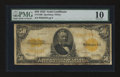 Large Size:Gold Certificates, Fr. 1200 $50 1922 Gold Certificate PMG Very Good 10....