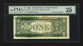 Error Notes:Ink Smears, Fr. 1921-F $1 1995 Federal Reserve Note. PMG Very Fine 25.. ...