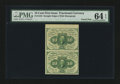 Fractional Currency:First Issue, Fr. 1242 10¢ First Issue Vertical Pair PMG Choice Uncirculated 64EPQ....