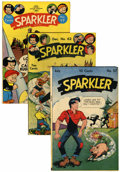 Golden Age (1938-1955):Miscellaneous, Sparkler Comics #57, 62, and 97 Lost Valley pedigree Group (United Features Syndicate, 1946-51).... (Total: 3 Comic Books)
