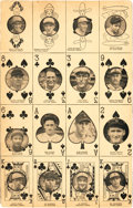 Baseball Cards:Sets, 1927 W560 Uncut Panel With Gehrig, Grove, Johnson and Cochrane....