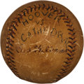 Autographs:Baseballs, 1934 Ted Williams Single Signed Game Used Baseball, Oldest KnownAutographed Baseball....