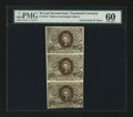 Fractional Currency:Second Issue, Fr. 1244 10¢ Second Issue PMG Uncirculated 60 Uncut Vertical Strip of Three....