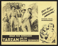 "Tarzan and the Green Goddess Lot (Burroughs-Tarzan-Enterprise and ATA, R-1940s and R-1950s). Lobby Cards (8) (11"" X..."