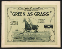 "Green as Grass (Educational, 1923). Title Lobby Card and Lobby Cards (6) (11"" X 14""). Short Subject. ... (Tota..."
