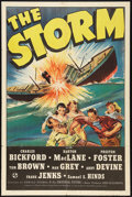 "Movie Posters:Adventure, The Storm (Universal, 1938). One Sheet (27"" X 41""). Adventure.. ..."
