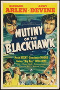 "Movie Posters:Adventure, Mutiny on the Blackhawk (Universal, 1939). One Sheet (27"" X 41"").Adventure.. ..."