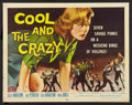 "Movie Posters:Bad Girl, The Cool and the Crazy (American International, 1958). Half Sheet (22"" X 28""). Bad Girl.. ..."