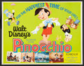 "Movie Posters:Animated, Pinocchio (Buena Vista, R-1971). Half Sheet (22"" X 28""). Animated....."