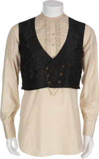 Clark Gable's Gone With the Wind Costume Shirt and Vest