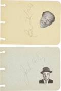 Movie/TV Memorabilia:Autographs and Signed Items, Bert Lahr and Jack Haley Signed Autograph Album Leaf....