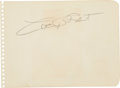 Movie/TV Memorabilia:Autographs and Signed Items, Cary Grant Signed Autograph Album Leaf....