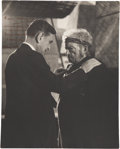 Movie/TV Memorabilia:Autographs and Signed Items, Sir David Lean Inscribed Photo to Claude Rains....