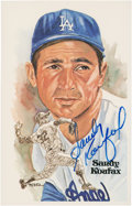Baseball Collectibles:Others, Sandy Koufax Signed Perez-Steele Postcard....