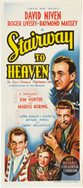 "Movie Posters:Fantasy, Stairway to Heaven (Rank, 1946). Australian Daybill (13"" X 30"")....."