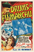 "Movie Posters:Serial, Drums of Fu Manchu (Republic, 1940). One Sheet (27"" X 41"") Chapter15 -- ""Revolt"".. ..."
