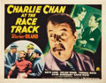 "Movie Posters:Mystery, Charlie Chan at the Race Track (20th Century Fox, 1936). TitleLobby Card and Lobby Cards (3) (11"" X 14"").. ... (Total: 4 Items)"