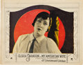 "Movie Posters:Romance, My American Wife (Paramount, 1922). Lobby Card (11"" X 14"").. ..."