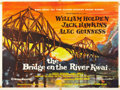 "Movie Posters:War, The Bridge On The River Kwai (Columbia, 1958). British Quad (30"" X40"") Academy Award Style.. ..."
