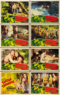 "Tarzan Triumphs (RKO, 1943). Lobby Card Set of 8 (11"" X 14""). ... (Total: 8 Items)"